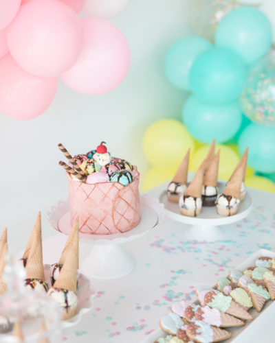 A Pastel Ice Cream Social Party