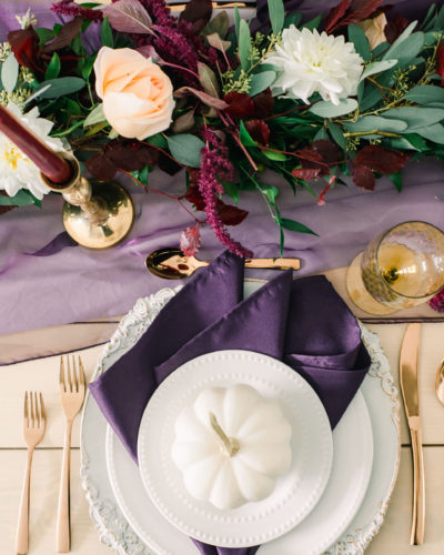 A Fall Inspired Wedding Tablescape